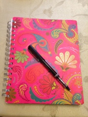 Prepping to write...yes, I often use pen and paper!