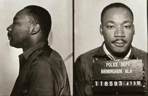 MLK mugshot: Birmingham, AL, 1963.